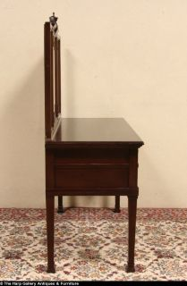 Carved Mahogany 1910 Antique Dressing Table Desk or Vanity