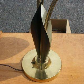 Vintage Metal Brass Gooseneck Organic Table Lamp