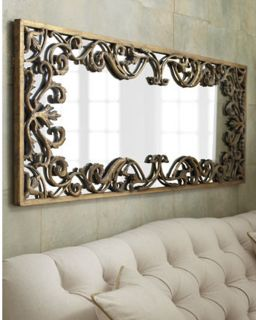 """Large Apricena Decorative Gold Wall Mirror XL 68"""" Horchow"""