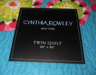 Cynthia Rowley Girl Teens Adult Twin Ibiza Bedding Set Quilt Sham
