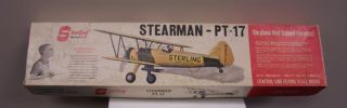 Vintage Sterling Stearman PT 17 Scale Control Model Airplane