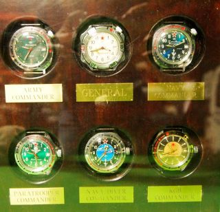 6 Piece Sale's Display Case USSR Russian Military Watches