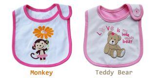 1pc Baby Kid Toddler Infant Cartoon Bib Waterproof Saliva Towel Feeding Boy Girl