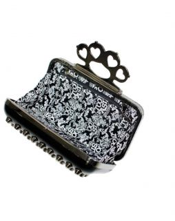 Too Fast Cone Studs Brass Knuckles Kuckle Duster Studded Suicidal Clutch