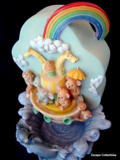 Noah's Ark Music Box Water Fountain Baby Infant 4 Lullabies Sound Activated