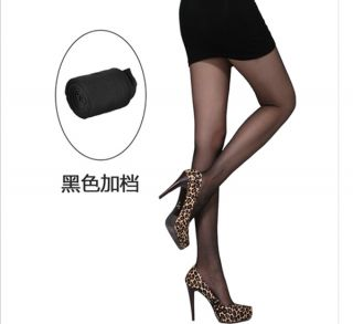 Fashion Women Transparent Scalable Tights Pantyhose Black Color Stockings New