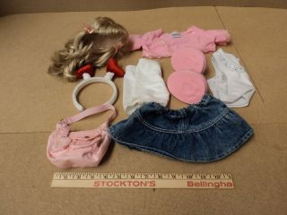 Build A Bear Workshop Dress Up Doll Clothing Multi Color 9 Pieces Cotton Nylon