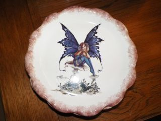New Kitchen Fairy 4pc Set Serving Dinner Plates Dishes Dish Amy Brown Retired