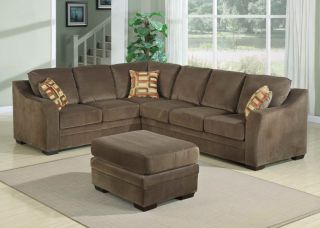 4pc Transitional Modern Sectional Fabric Sofa Bed Set AC Jen S1