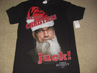 New Duck Dynasty Shirt SI Merry Christmas Jack Size Mens Small