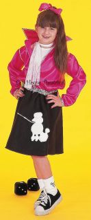 Peggy Sue Jacket Poodle Skirt Costume 50's Child 53702