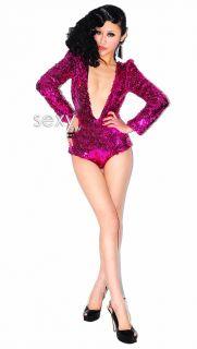 Super Sexy Stripper Fancy Party Dancing Clubwear Sequin Deep V Jazz Dancewear