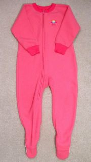 Girls Fall Winter Fleece Blanket Sleeper Pajamas PJs 3T Pink Gerber Cupcake