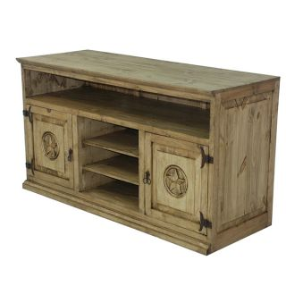 Honey Rustic TV Stand with Stars