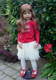 "Masterpiece Cutie Patootie Monika Levenig Doll 39"" Brunette Vinyl 9 Joints"