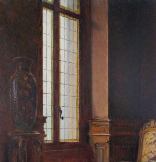 Antique French Oil Painting on Canvas Signed Emile Jalifie 1912 Paris Salon