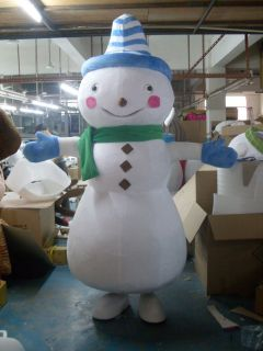 New Christmas Snowman Adult Cartoon Mascot Costume Birthday x'mas Party Supply