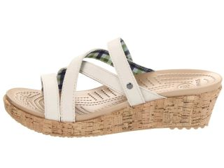 Crocs A Leigh Mini Wedge Leather Stucco/Stucco