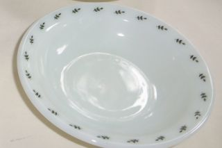 Corning Pyrex Green Leaf Restaurant 4 Bowls Small Fruit Sauce Berry