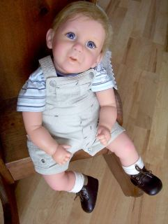 "Reborn Doll 22"" Cute Little Boy 5 Pounds Selling My Huge Doll Collection"