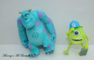 Disney Monsters Inc Talking Sully Mike Wazowski Figures Toys
