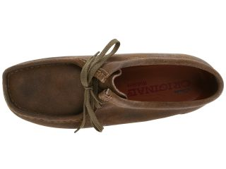 Clarks Wallabee Taupe Distressed