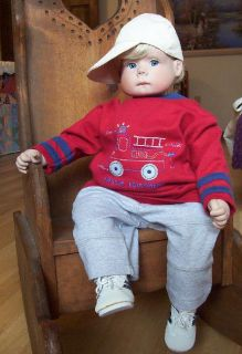"Original Lee Middleton Doll Tenderness So Brave 23"" Little Baseball Guy Sale"