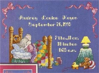 Dream Baby Birth Announcement Cross Stitch Pattern Booklet Leaflet