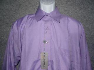Villa D'Marco Mens Purple Dress Shirt Size Medium 15 15 5 34 35