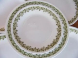 Corelle Crazy Daisy Green Corning Replacement Lunch Bread Dessert Plate Vintage