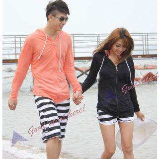 New Korean Stylish Couple Hoodie Hood Shirt Clothes Unisex Beach Zippered Coat