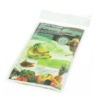 20pk Stay Fresh Green Bags Fruit Vegetable Reusable Life Extender Save Money
