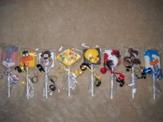 "Chocolate Edible Decal 3"" Daffy Duck Bugs Bunny Looney Tunes Lollipops Lollipop"