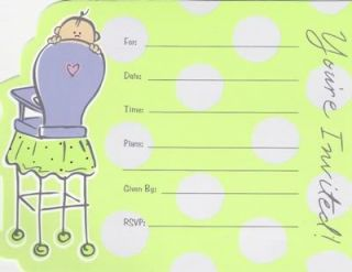Boy or Girl Baby Shower Party Invitations Party Supplys