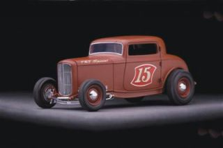 1932 Ford 3 Window Chopped Highboy Coupe Diecast by GMP