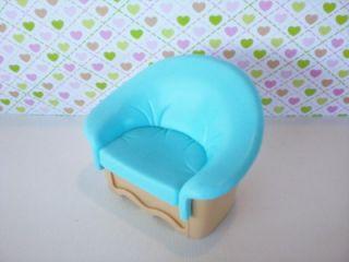 Fisher Price Loving Family Dollhouse Blue Dream Living Room Chair Genuine