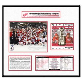 Thats My Ticket NHL 2008 Stanley Cup Ticket Frame Team Celebration   Detroit Red Wings