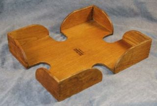 Vintage Craftsman Mission Golden Oak Desk Letter Tray