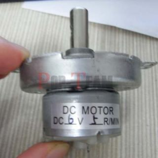 Stock Metal Small Geared DC Motor DC 6V 5rpm MIN Stock New Robust JF6G