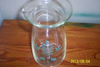 Vintage Retro 60S70S Atomic Pyrex Cara FE Pitcher Decanter