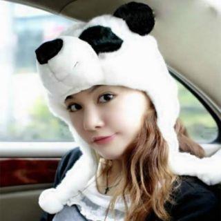 Cartoon Animal Cute Bear Panda Fancy Costume Mask Warmer Hat Cap Beanie Earmuff
