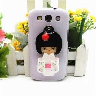 OC64 Shiny Japanese Doll Mirror Hard Back Case Cover for Samsung Galaxy i9300 S3
