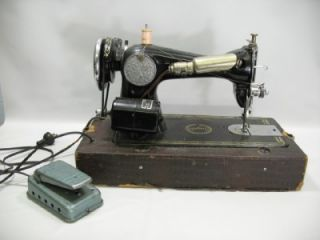 Antique Singer Simplex MM1006 Electric Sewing Machine Portable w Mercury Pedal