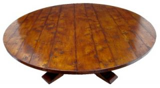Massive 20th Century Round Oak Dining Table Seats 14
