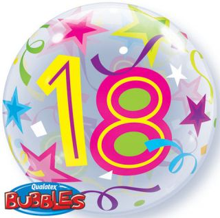 "22"" Happy 18th Birthday Qualatex Bubble Balloon"