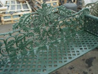 Cast Iron Victorian Dog Head Garden Benches HSC18