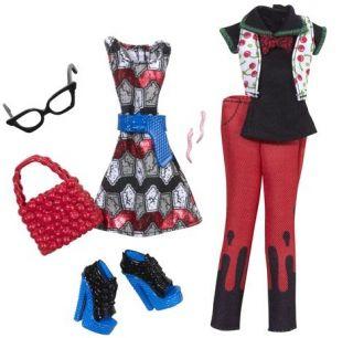NIB Monster High 4 Deluxe Fashion Packs Ghoulia Robecca Operetta Frankie