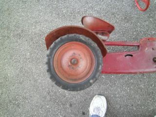 Antique BMC Chain Driven Pedal Tractor Car Red Ride on Toy Kids Parts Repair