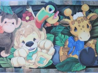 Zootles Jungle Wild Animals Safari Zoo Theme Baby Nursery Wallpaper Wall Border