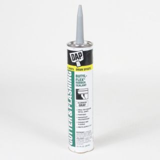 3 DAP Gutter Flashing Butyl Flex Rubber Sealant 10 FL oz Aluminum Gray